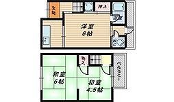 [テラスハウス] 大阪府堺市堺区三宝町5丁 の賃貸【/】の間取り