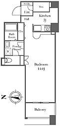 リバーシティ21イーストタワーズ2 32階ワンルームの間取り