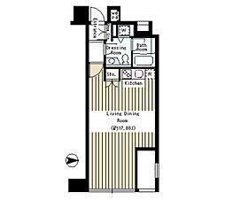 東京メトロ半蔵門線 半蔵門駅 徒歩2分の賃貸マンション 7階ワンルームの間取り