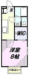 埼玉県狭山市大字上奥富の賃貸アパートの間取り