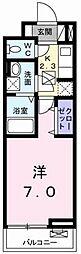 東京都昭島市緑町1丁目の賃貸アパートの間取り