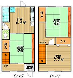 [テラスハウス] 兵庫県神戸市長田区長楽町3丁目 の賃貸【/】の間取り