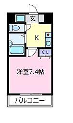 プレミール松原[2階]の間取り