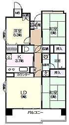 けやき通り南四番館 6階3LDKの間取り