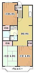 カサベルデ新堀[2階]の間取り