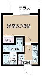 都営大江戸線 光が丘駅 徒歩9分の賃貸マンション 1階1Kの間取り