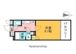JR東西線 大阪天満宮駅 徒歩2分の賃貸マンション 10階1Kの間取り