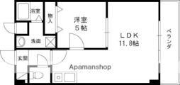 M'プラザ津田駅前12番館 6階1LDKの間取り