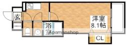 ラグゼ新大阪SOUTH 2階1Kの間取り