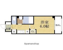 スワンズシティ大阪城ノース 5階1Kの間取り