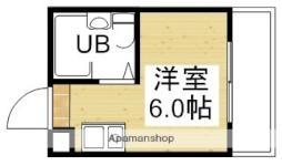 阪急千里線 柴島駅 徒歩3分の賃貸マンション 1階ワンルームの間取り