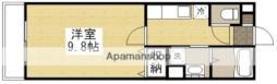 サンステージ大和町 3階1Kの間取り