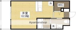 広島電鉄2系統 広島駅駅 バス9分 東雲本町1丁目下車 徒歩2分の賃貸マンション 5階ワンルームの間取り