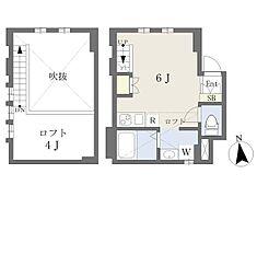 デザインメゾン京都深草 1階ワンルームの間取り