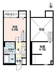 フローラヒルズ南福岡[2階]の間取り