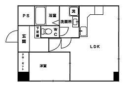 パソナール博多[4階]の間取り