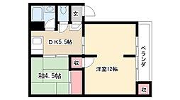 愛知県名古屋市昭和区広路町字松風園 の賃貸マンションの間取り