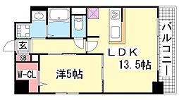 兵庫県神戸市兵庫区塚本通2丁目の賃貸マンションの間取り