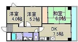 大阪府大阪市西淀川区姫里2丁目の賃貸マンションの間取り