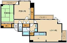 兵庫県尼崎市田能4丁目の賃貸マンションの間取り