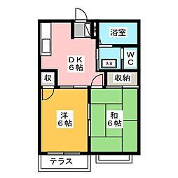 ファミールメゾンPIII[2階]の間取り