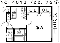 I cube(アイキューブ)松屋町[307号室号室]の間取り