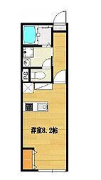 馬堀町2丁目新築アパート[203号室]の間取り
