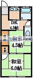 飯堂マンション[2階]の間取り
