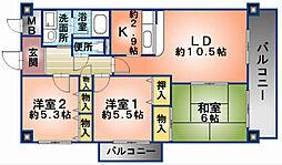 アロッジオKTI[1階]の間取り