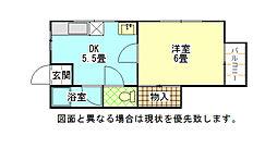 福岡県北九州市小倉北区篠崎3丁目の賃貸アパートの間取り