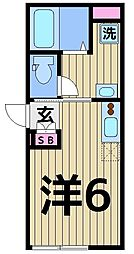 KK.UMEJIMA[301号室]の間取り