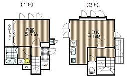 宮城県仙台市青葉区愛子中央5丁目の賃貸アパートの間取り