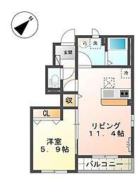 ラプレイル[1階]の間取り
