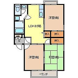 ドリームタウン宮沢B棟[1階]の間取り