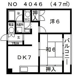 ワコーハイツ[4階]の間取り