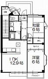 ハイステージISAHO A棟[102号号室]の間取り