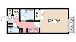 イースト夙川[1階]の間取り