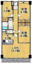 OKI−V[4階]の間取り