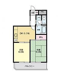 ウィスタリアマンション[305号室号室]の間取り