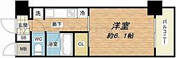 ル・パルトネール天王寺真田山[6階]の間取り