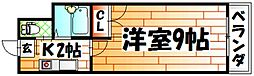 No.21 インターネット片野[14階]の間取り