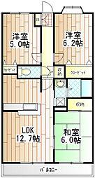 第6旭マンション[1階]の間取り