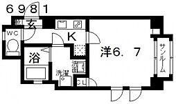 オーシャン青山[303号室号室]の間取り