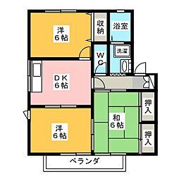 エマーブル A棟[1階]の間取り