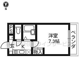 ジュネス三京[406号室]の間取り