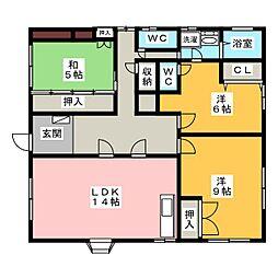 石岡邸1階[1階]の間取り