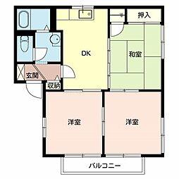 フォーレス新金岡[2階]の間取り