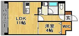 福岡県福岡市中央区平和5丁目の賃貸マンションの間取り