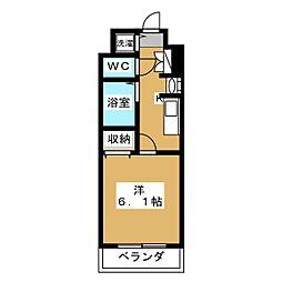 スワンズ京都二条城北[7階]の間取り