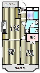 クレセントカシダI[1階]の間取り